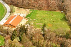 Kamelhof Luftaufnahme